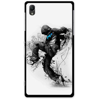Snooky Printed Enjoying Life Mobile Back Cover For Sony Xperia Z1 - Multi