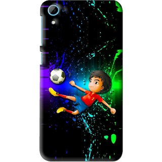 Snooky Printed High Kick Mobile Back Cover For HTC Desire 826 - Multi