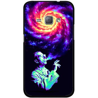 Snooky Printed Universe Mobile Back Cover For Samsung Galaxy J1 - Multicolour