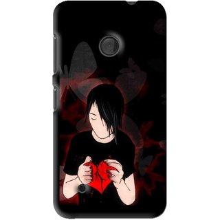 Snooky Printed Broken Heart Mobile Back Cover For Nokia Lumia 530 - Multi