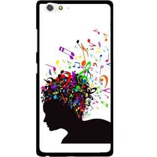Snooky Printed Music Lover Mobile Back Cover For Gionee Elife S6 - Multi