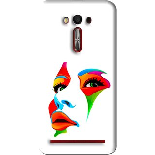 Snooky Printed Modern Girl Mobile Back Cover For Asus Zenfone Laser - Multi