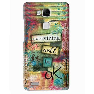 Snooky Printed Will Ok Mobile Back Cover For Huawei Ascend Mate 7 - Multi
