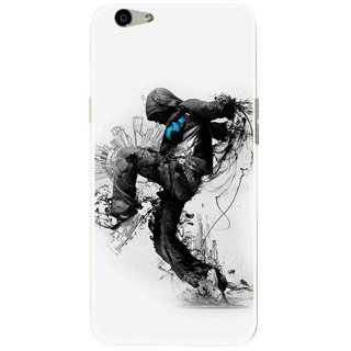 Snooky Printed Enjoying Life Mobile Back Cover For Oppo F1s - Multi