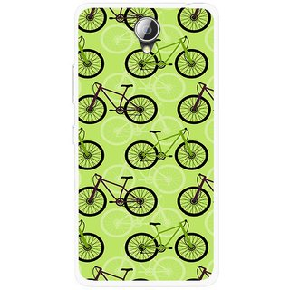 Snooky Printed Cycle Mobile Back Cover For Lenovo A5000 - Green