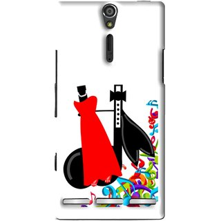 Snooky Printed Fashion Mobile Back Cover For Sony Xperia S - Multi