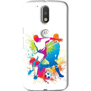 Snooky Printed Footbal Mania Mobile Back Cover For Moto G4 Plus - Multi