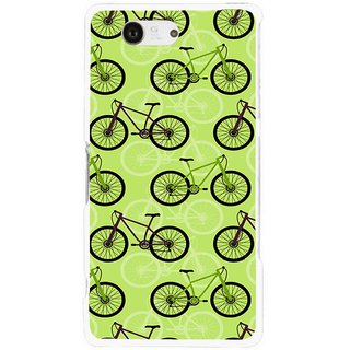 Snooky Printed Cycle Mobile Back Cover For Sony Xperia Z3 Compact - Green