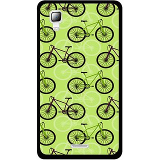 Snooky Printed Cycle Mobile Back Cover For Micromax Canvas Doodle 3 A102 - Green