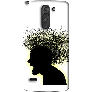 Snooky Printed Music Fond Mobile Back Cover For Lg G3 Stylus - Multi