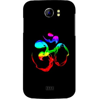 Snooky Printed Om Mobile Back Cover For Micromax Canvas 2 A110 - Black