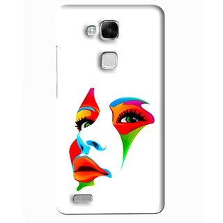 Snooky Printed Modern Girl Mobile Back Cover For Huawei Ascend Mate 7 - Multi