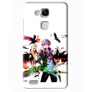Snooky Printed Angry Man Mobile Back Cover For Huawei Ascend Mate 7 - Multi