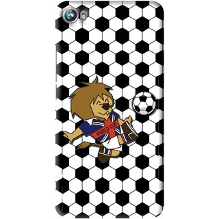 Snooky Printed Football Cup Mobile Back Cover For Micromax Canvas Fire 4 A107 - Multi