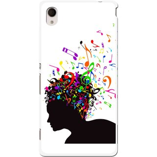 Snooky Printed Music Lover Mobile Back Cover For Sony Xperia M4 - Multi