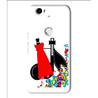 Snooky Printed Fashion Mobile Back Cover For Huawei Nexus 6P - Multi