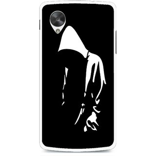 Snooky Printed Thinking Man Mobile Back Cover For Lg Google Nexus 5 - Multi