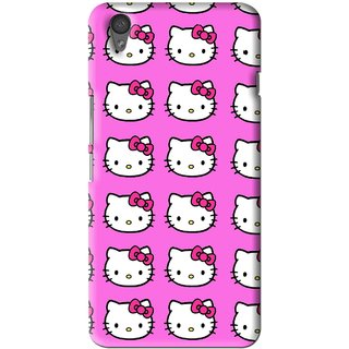 Snooky Printed Pink Kitty Mobile Back Cover For One Plus X - Multi