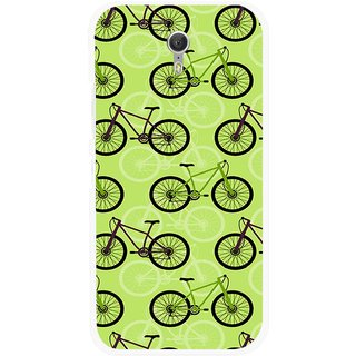 Snooky Printed Cycle Mobile Back Cover For Lenovo Zuk Z1 - Green