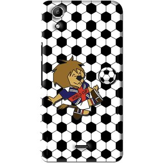 Snooky Printed Football Cup Mobile Back Cover For Micromax Canvas Selfie Lens Q345 - Multi