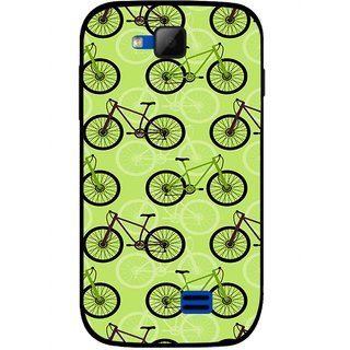 Snooky Printed Cycle Mobile Back Cover For Micromax Canvas Fun A63 - Green