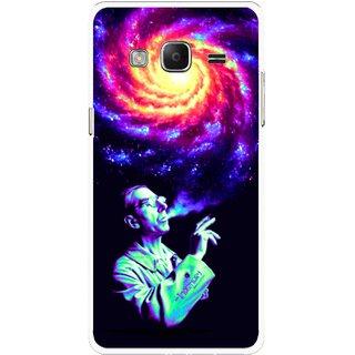 Snooky Printed Universe Mobile Back Cover For Samsung Tizen Z3 - Multicolour