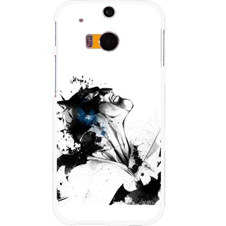 Snooky Printed Super Hero Mobile Back Cover For HTC One M8 - Multicolour