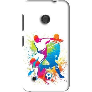 Snooky Printed Footbal Mania Mobile Back Cover For Nokia Lumia 530 - Multi