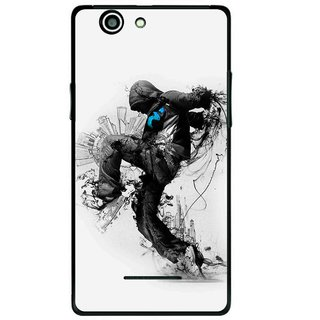 Snooky Printed Enjoying Life Mobile Back Cover For Xolo A500s - Multi