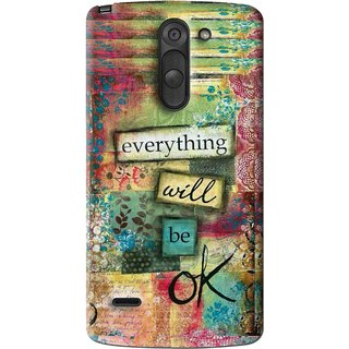 Snooky Printed Will Ok Mobile Back Cover For Lg G3 Stylus - Multi