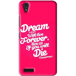 Snooky Printed Live the Life Mobile Back Cover For Lenovo A3900 - Multi