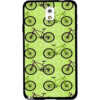 Snooky Printed Cycle Mobile Back Cover For Samsung Galaxy Note 3 - Green