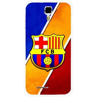 Snooky Printed Football Club Mobile Back Cover For Micromax Canvas Juice A177 - Multicolour
