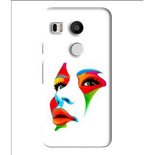 Snooky Printed Modern Girl Mobile Back Cover For Lg Google Nexus 5X - Multi