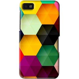 Snooky Printed Hexagon Mobile Back Cover For Blackberry Z10 - Multi