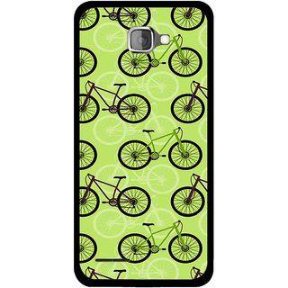 Snooky Printed Cycle Mobile Back Cover For Micromax Canvas Mad A94 - Green
