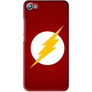 Snooky Printed High Voltage Mobile Back Cover For Micromax Canvas Fire 4 A107 - Multi
