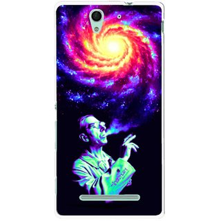 Snooky Printed Universe Mobile Back Cover For Sony Xperia C3 - Multicolour