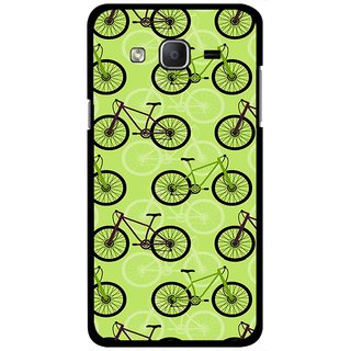 Snooky Printed Cycle Mobile Back Cover For Samsung Galaxy On5 - Green