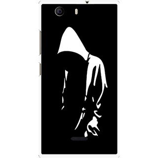 Snooky Printed Thinking Man Mobile Back Cover For Micromax Canvas Nitro 2 E311 - Multi