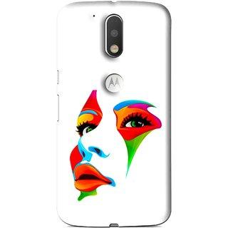 Snooky Printed Modern Girl Mobile Back Cover For Moto G4 Plus - Multi