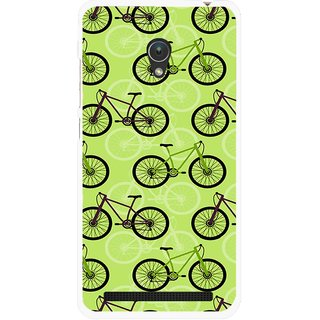 Snooky Printed Cycle Mobile Back Cover For Asus Zenfone Go ZC451TG - Green
