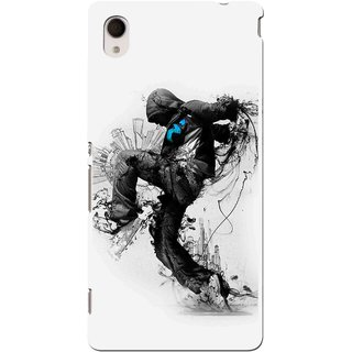 Snooky Printed Enjoying Life Mobile Back Cover For Sony Xperia M4 - Multi
