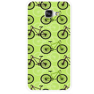 Snooky Printed Cycle Mobile Back Cover For Samsung Galaxy A7 2016 - Green