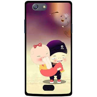 Snooky Printed Friendship Mobile Back Cover For Oppo Neo 5 - Multicolour