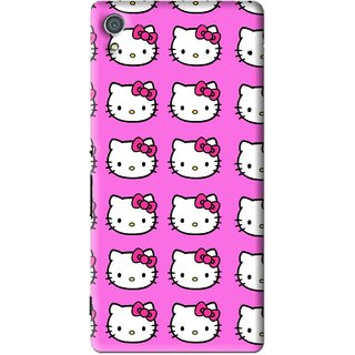 Snooky Printed Pink Kitty Mobile Back Cover For Sony Xperia Z4 - Multi