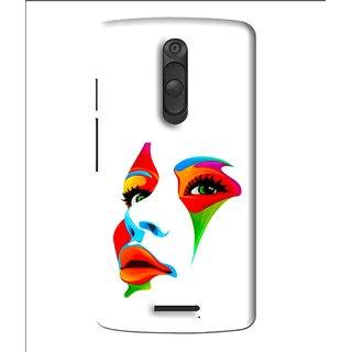 Snooky Printed Modern Girl Mobile Back Cover For Moto X3 - Multi