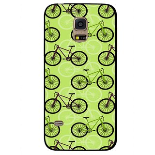 Snooky Printed Cycle Mobile Back Cover For Samsung Galaxy S5 Mini - Green