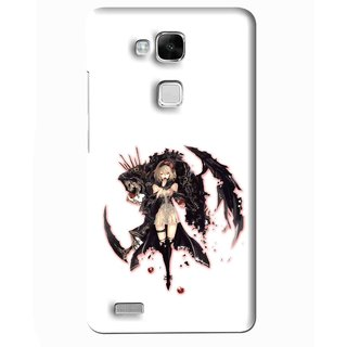 Snooky Printed Kungfu Girl Mobile Back Cover For Huawei Ascend Mate 7 - Multi