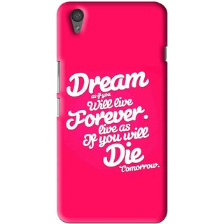 Snooky Printed Live the Life Mobile Back Cover For One Plus X - Multi